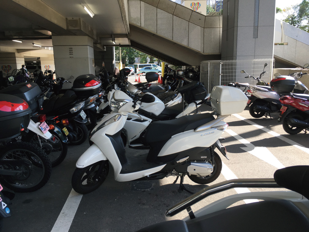 江東区役所バイク置き場