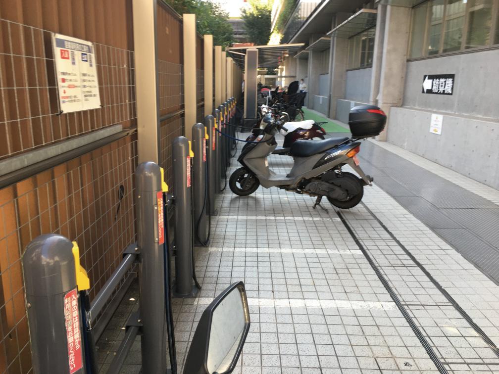 板橋区役所バイク置き場