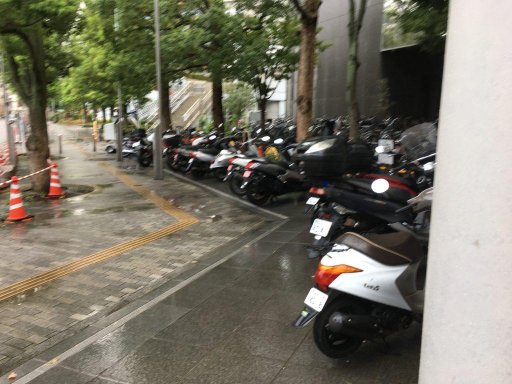墨田区役所バイク置き場