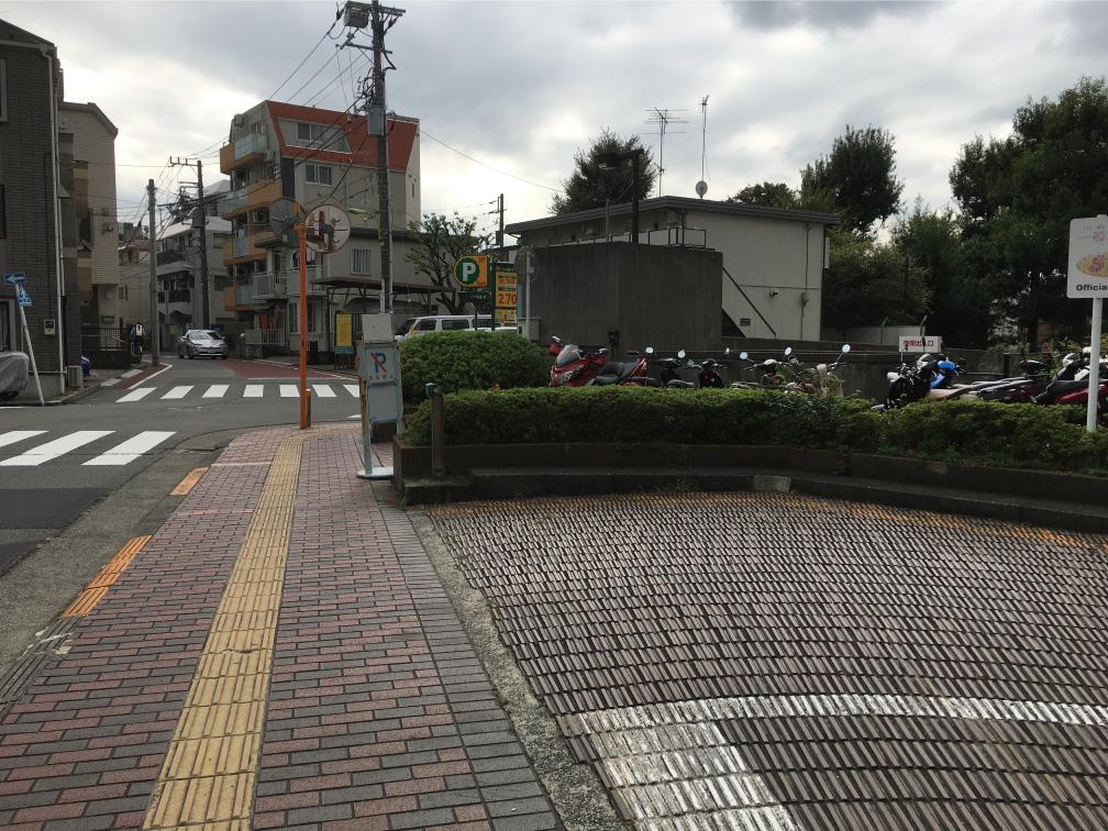 世田谷区役所バイク置き場