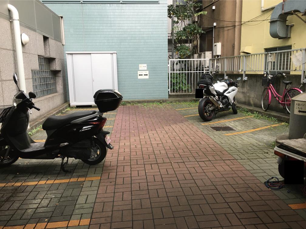 杉並区役所バイク駐車場
