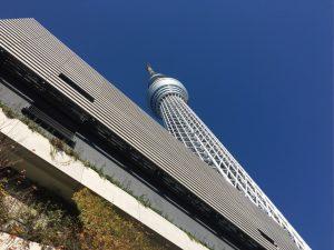 東京スカイツリー真下からの見上げ