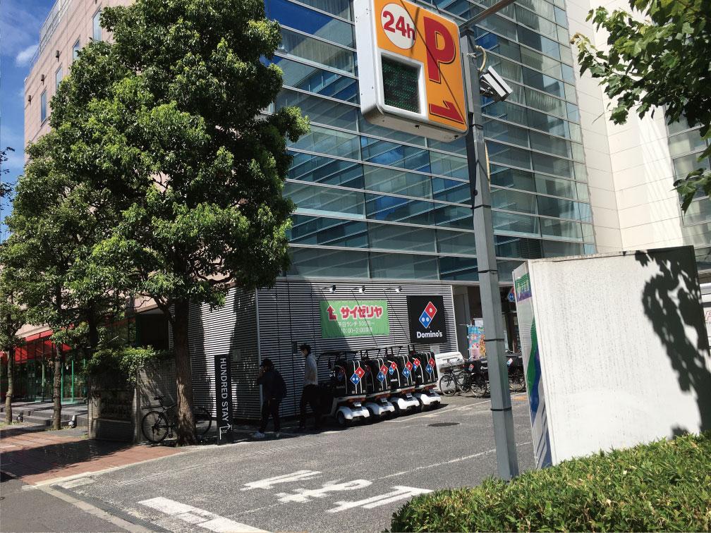 ECOステーション21 大久保駅前駐輪場の入り口